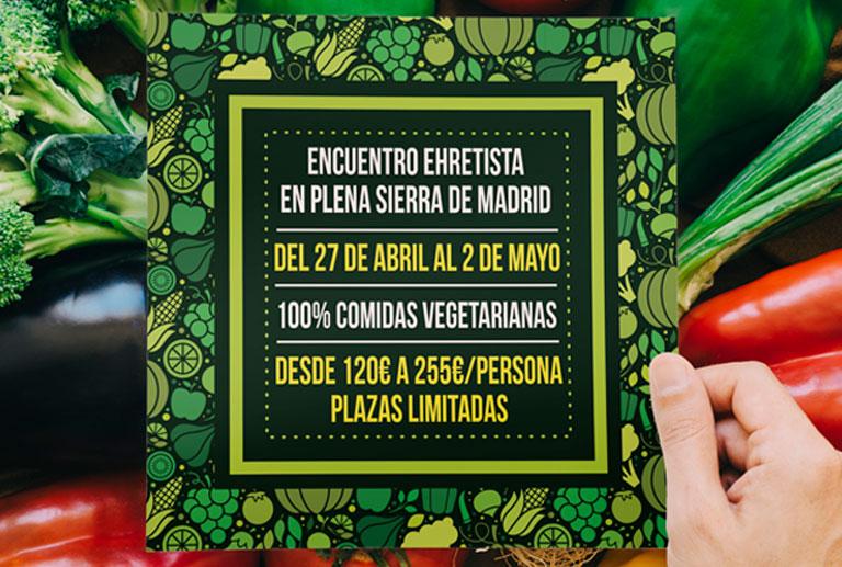 Encuentro Ehretista en la Sierra de Madrid del 27 de abril al 2 de mayo 2018
